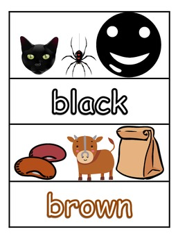 Writing Color Words in English