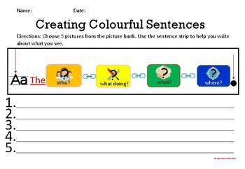 Writing Colourful Sentences