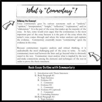 writing commentary for the literary analysis essay by the bespoke writing commentary for the literary analysis essay