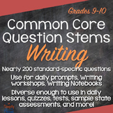 Writing Common Core Question Stems and Annotated Standards