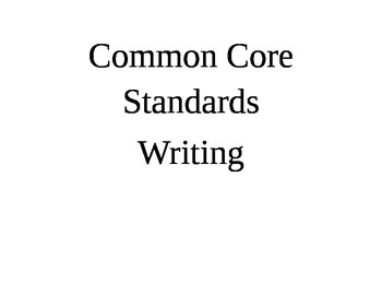 Writing Common Core Standards Large