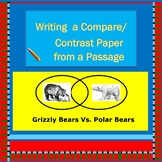 Writing Compare Contrast Essays from Reading Passages