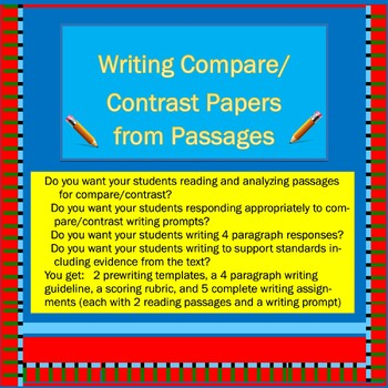 Common Core: Writing Compare/Contrast Papers