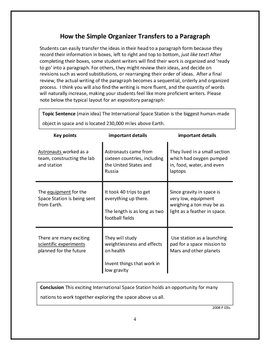 Writing Compare/Contrast, Summary and Sequencing
