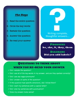Writing Complete Answers - Presentation & Handout