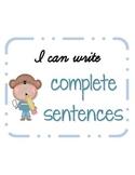 Writing Complete Sentences: Subject, Predicate, Sentence,