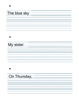 Writing Complete Sentences - VARIETY of practice sheets