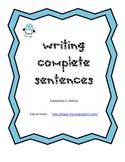 Writing Complete Sentences - Winter Theme