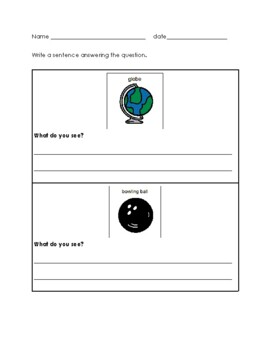 Writing Complete Sentences about a Picture
