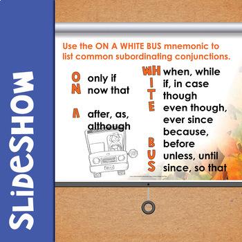 Writing Complex Sentences Task Cards