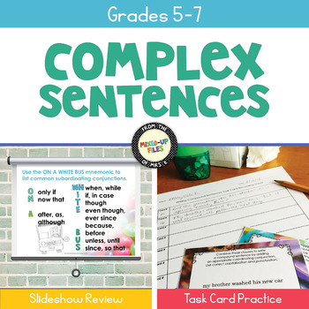 Writing Complex Sentences Task Cards