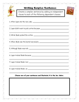Writing Complex Sentences with Cajun Folktales
