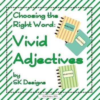 Writing Composition Word Choice Bundle Nouns, Verbs, Adjectives, Adverbs