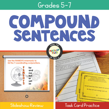 Writing Compound Sentences Task Cards