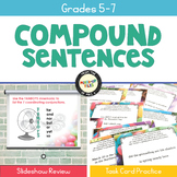 Writing Compound Sentences Task Cards
