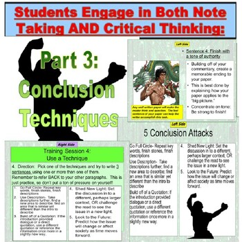 Writing : Conclusion Paragraph Lesson PowerPoint