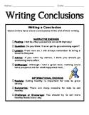 Conclusion Sentences Packet