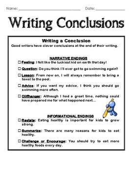 Write conclusion essay
