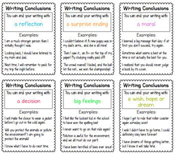 Writing Conclusions Charts