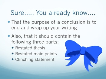 Writing Conclusions: Research Paper PowerPoint Presentation