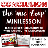 Writing Conclusions: The Mic Drop - Helpful Minilesson for Writers' Workshop