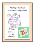 Writing Conditional Statements Help Sheet