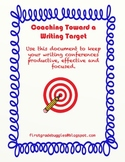 Writing Conference: Coaching Toward a Writing Target