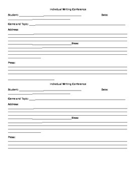 Writing Conference Form