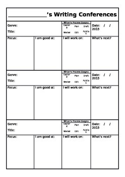 Writing Conference Form - Fully Editable