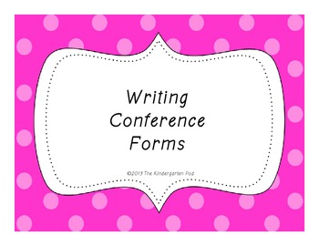 Writing Conference Forms FREEBIE