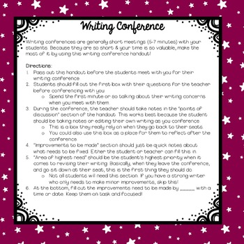 Writing Conference Handout