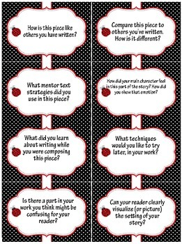 Writing Conference Higher-Order Thinking Questions