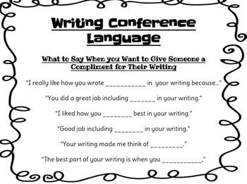 Writing Conference Language Prompts