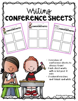 Writing Conference Note Pages
