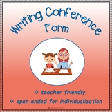 Writing Conference Form: Quick, Easy, Flexible