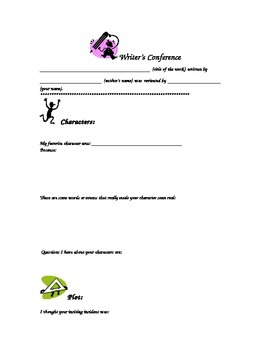 Writing Conference:  Peer Review Form-Fiction