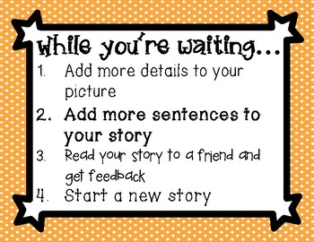Writing Conference Poster - While You're Waiting