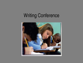 Writing Conference PowerPoint