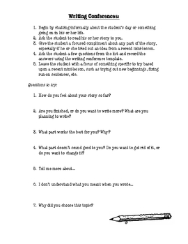Writing Conference Questioning Guide