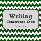 Writing Conference Sheet