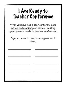 writing conference sign up sheets by perfectly practical tpt