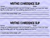 Writing Conference Slips
