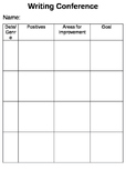 Writing Conference Template