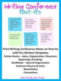 Writing Conference Templates for Printing Pre Written Post It Notes
