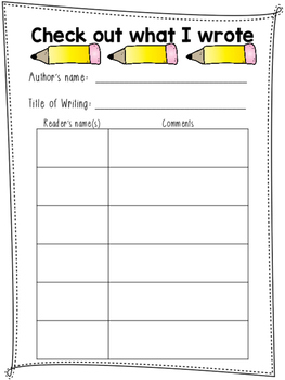 Writing Conference Worksheet