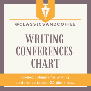 Writing Conferences Chart