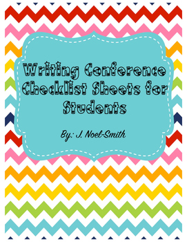 Writing Conferences Checklist for Students