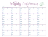 Writing Conferences Decorative Note Taking Sheet
