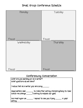 Writing Conferences Format