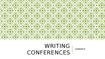 Writing Conferences PD